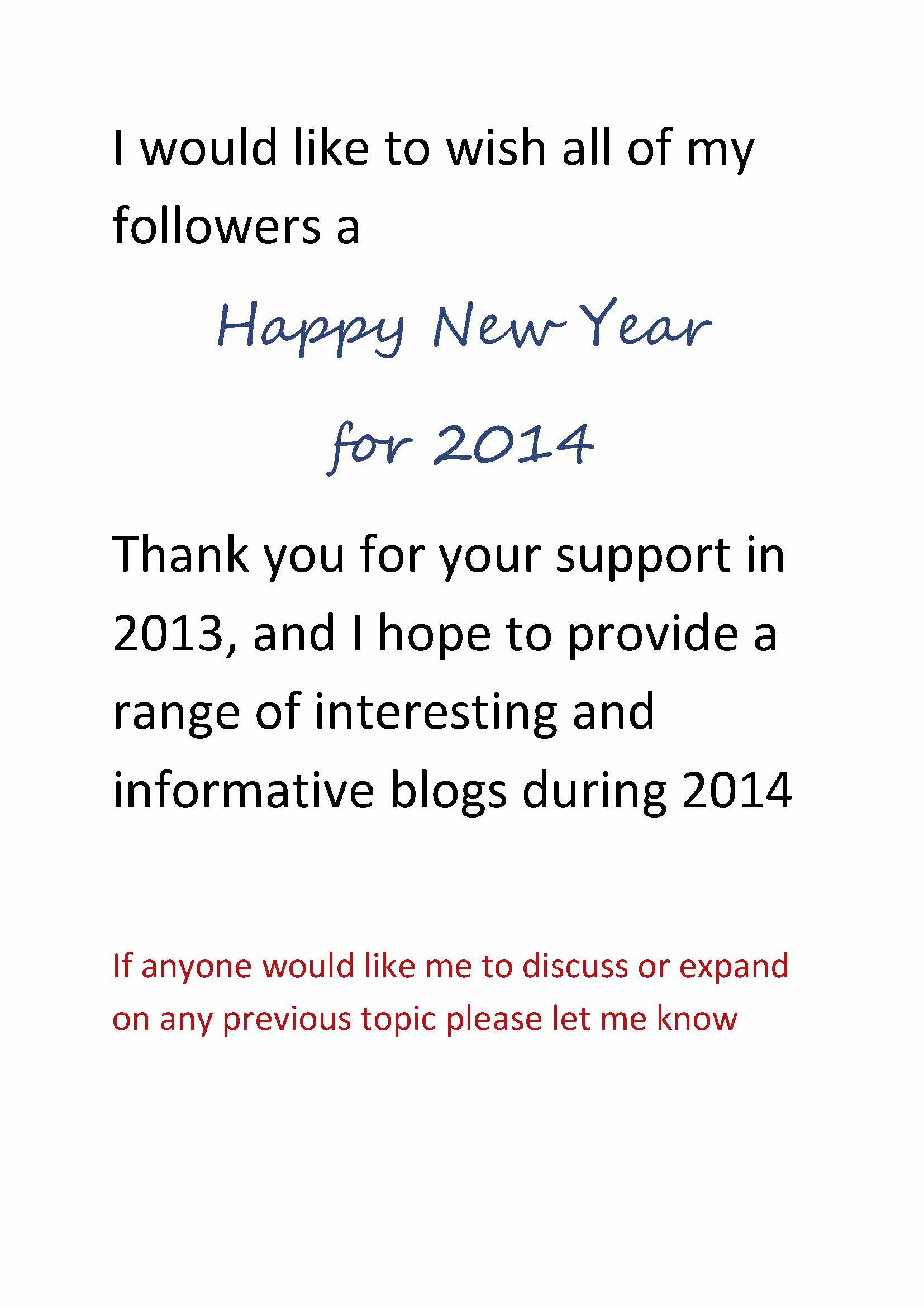 Happy and Prosperous 2014